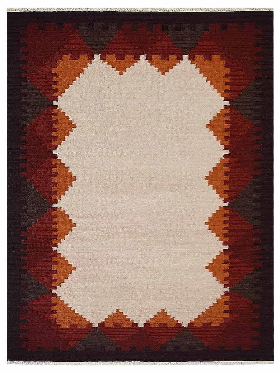 St Catherine Handmade Kilim Wool Beige/Red Area Rug Rug Size: Rectangle 5' x 8'