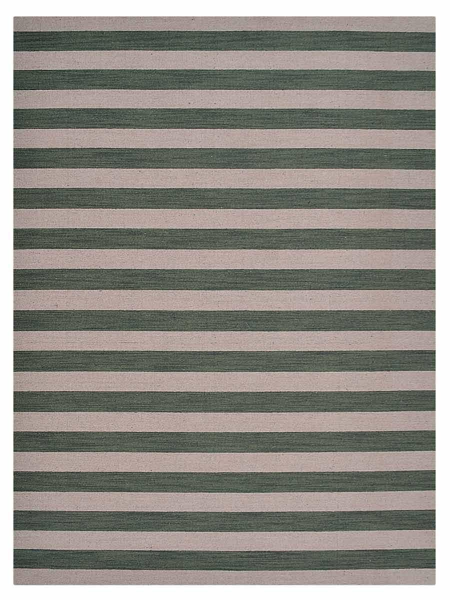 Cilegon Hand-Woven Wool Brown/Green Area Rug Rug Size: Rectangle 6'7