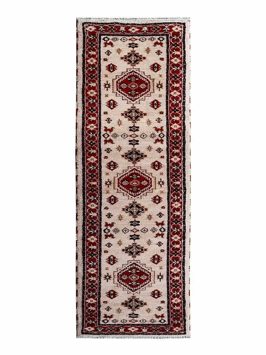 Rackers Hand-Knotted Red/Beige Area Rug