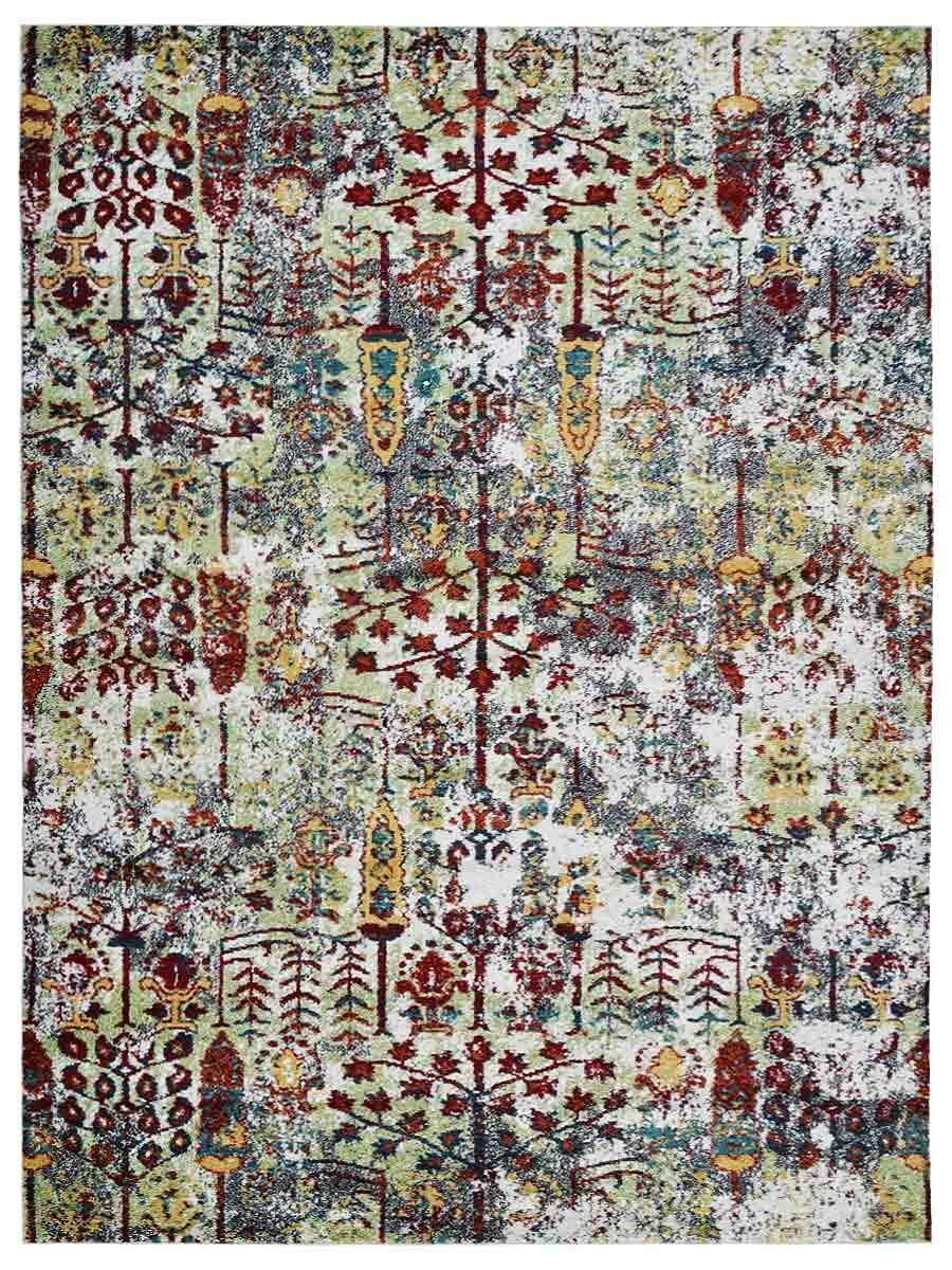 Rackers Green/Red Area Rug Rug Size: Rectangle 10' x 13'