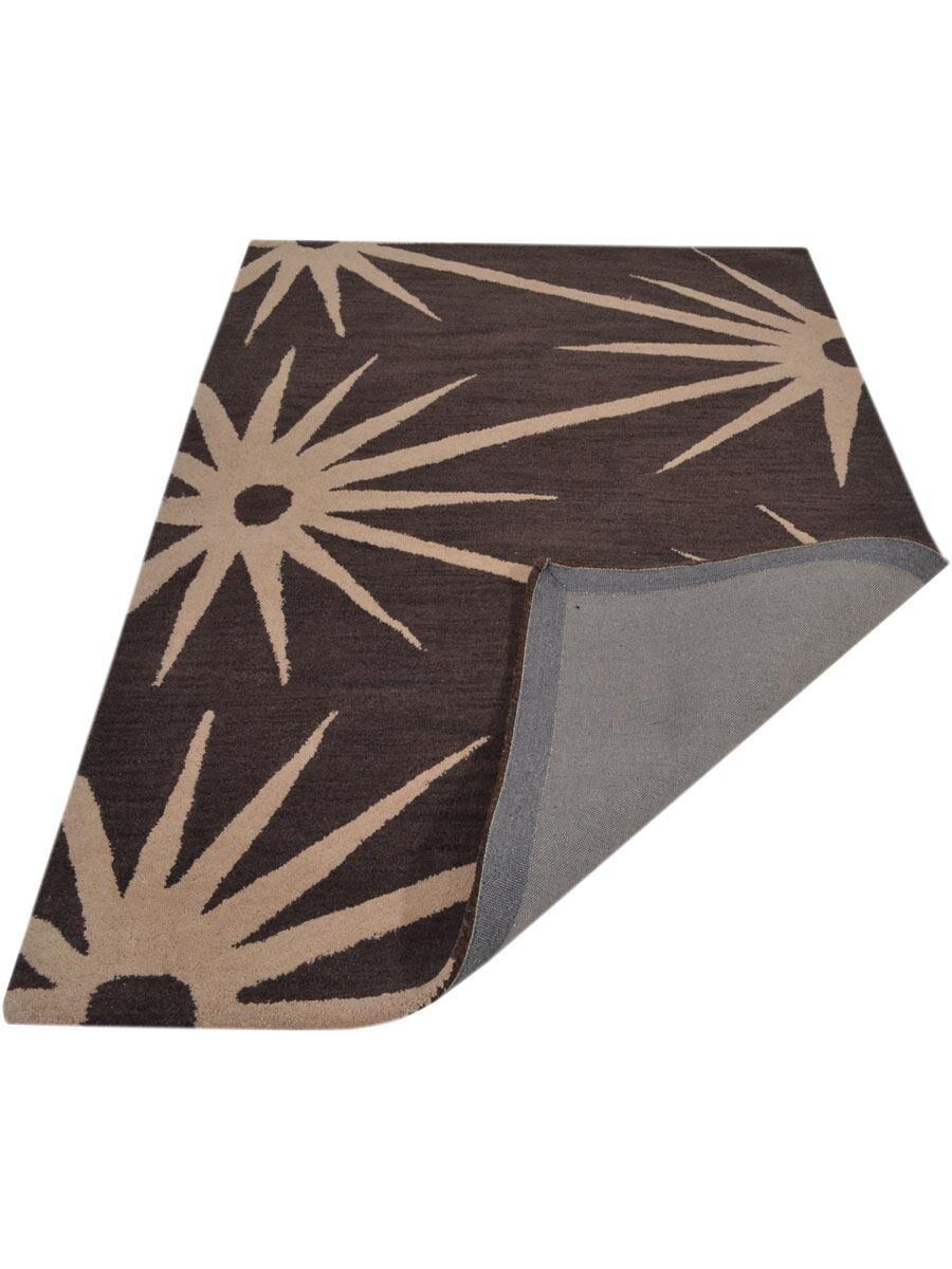 Housel Hand-Tufted Wool Brown/Beige Area Rug