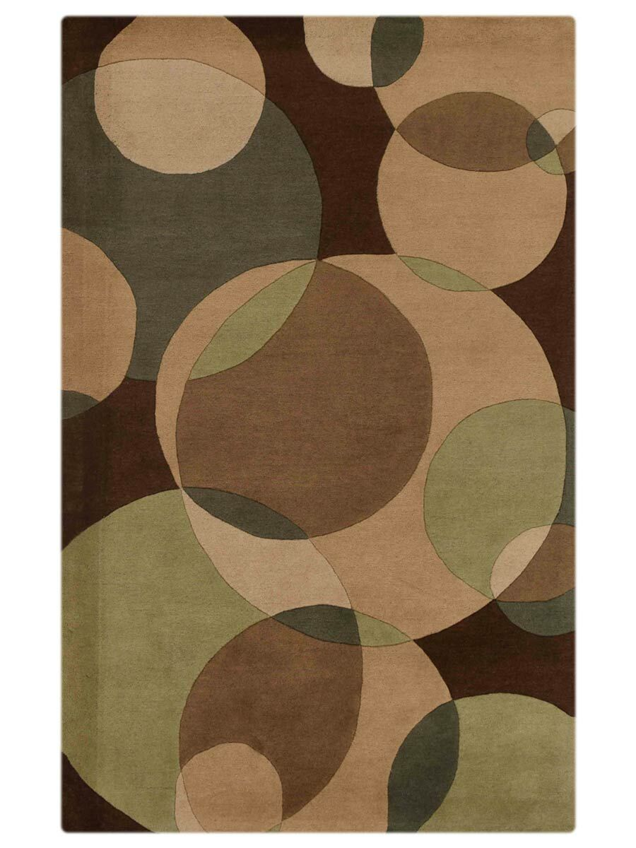 Housel Hand-Tufted Wool Brown/Green Area Rug Rug Size: Rectangle 8' x 10'