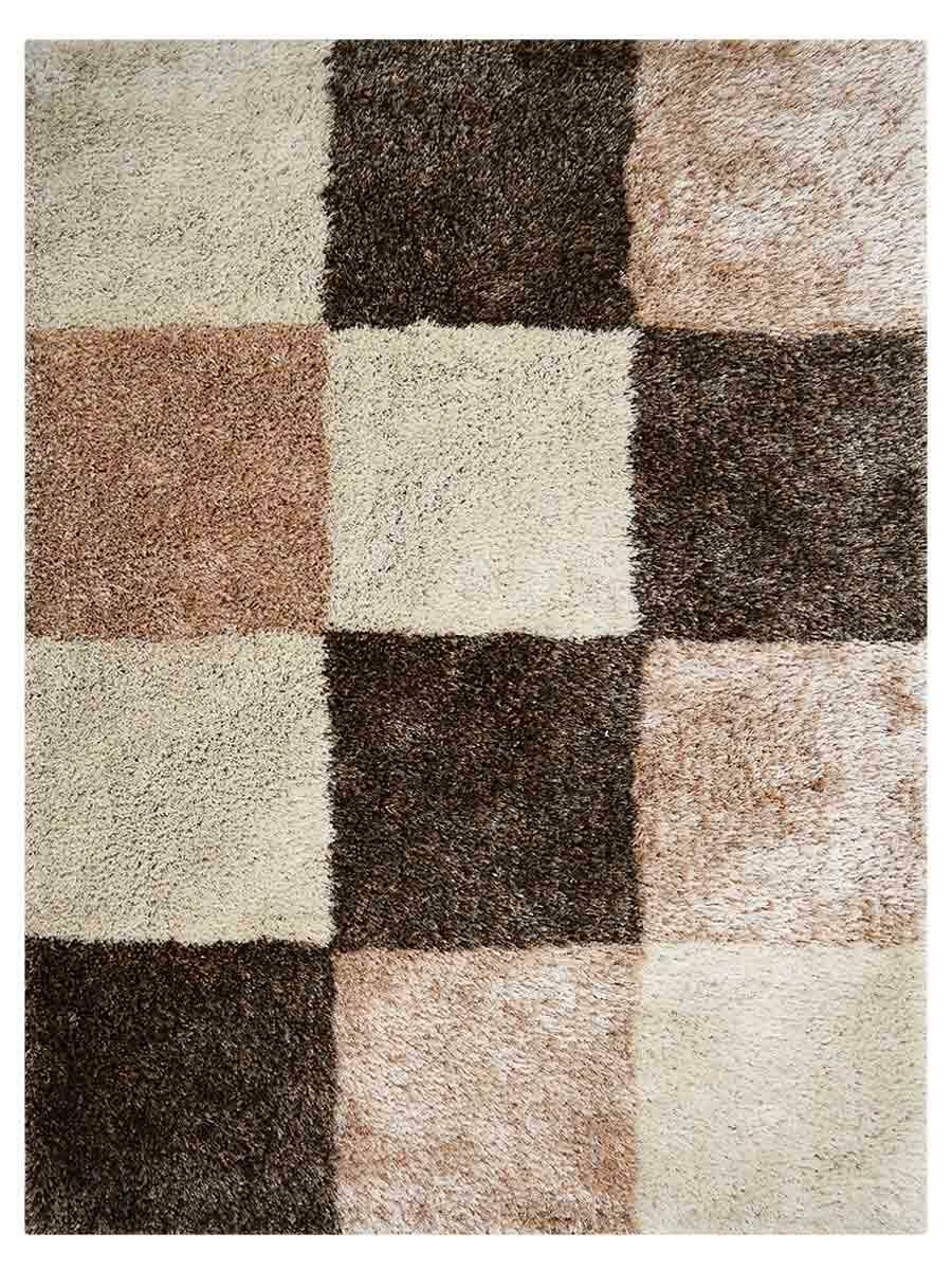 Housel Hand-Tufted Brown Area Rug