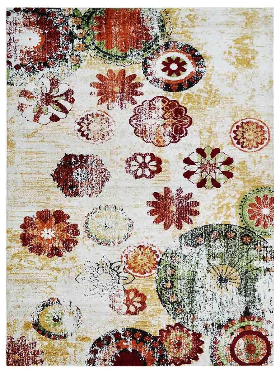 Altona Gray/Red Area Rug Rug Size: Rectangle 8' x 10'