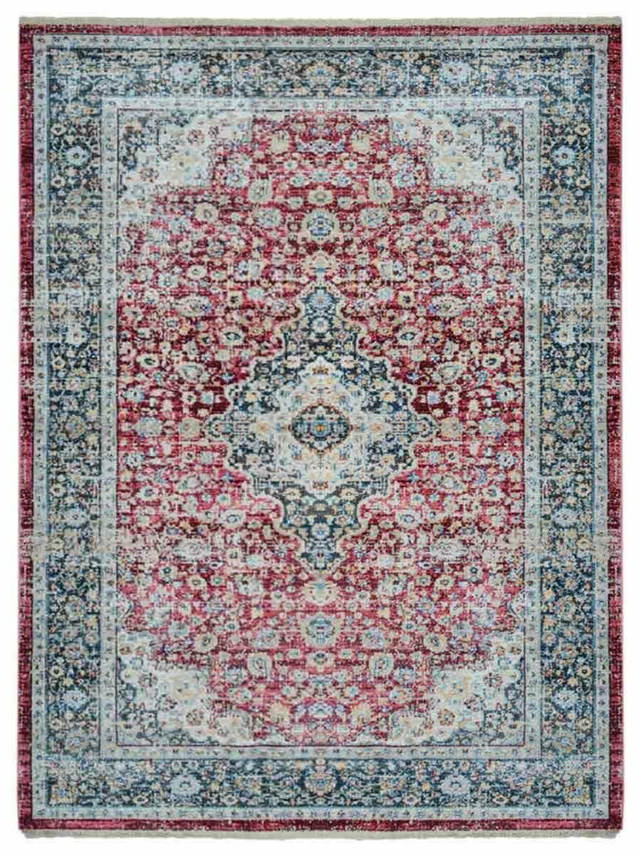 Hartshorn Red/Blue Area Rug Rug Size: Rectangle 4'8