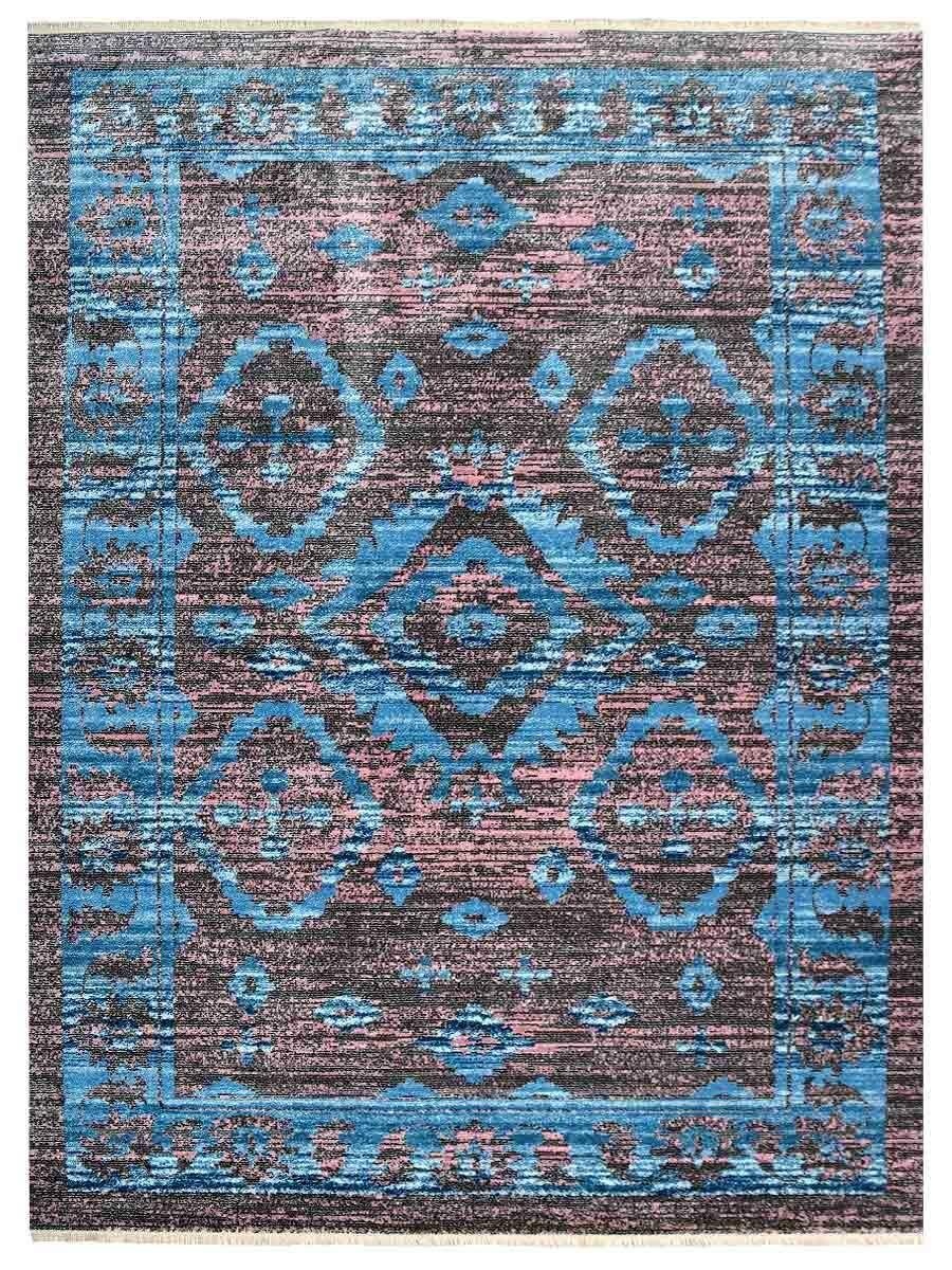 Hartshorn Turquoise Blue/Pink/Black Area Rug Rug Size: Runner 2'3