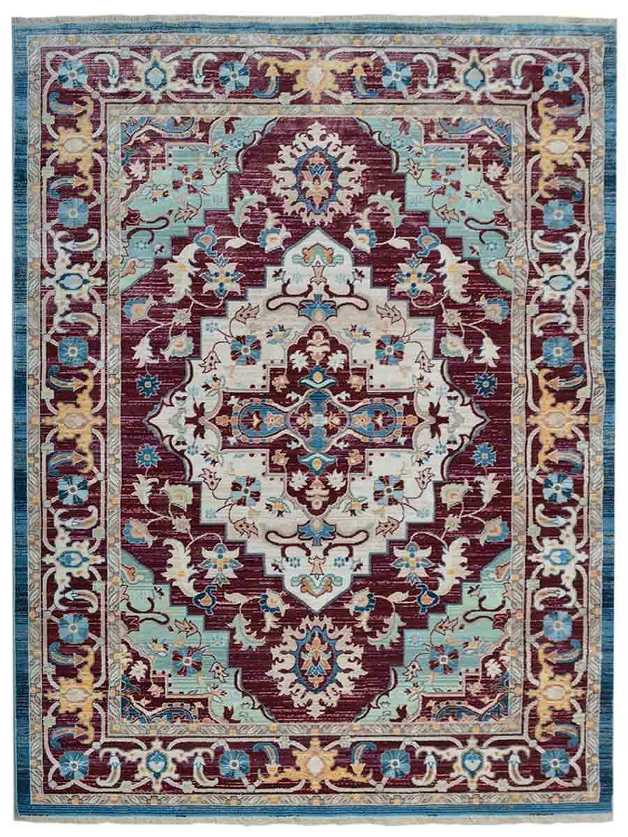 Hartshorn Red/Blue Area Rug Rug Size: Rectangle 4' x 5'11