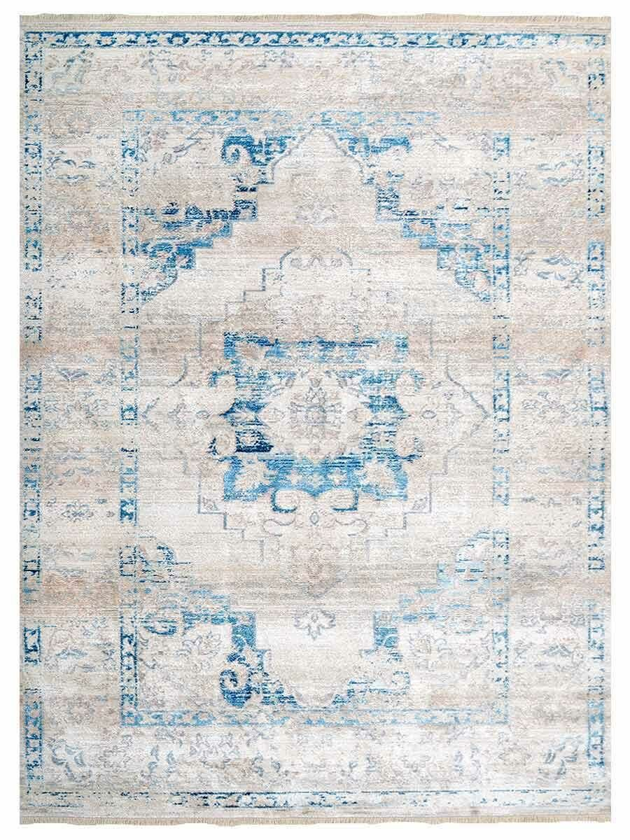 Hartshorn Ivory/Blue Area Rug Rug Size: Rectangle 10' x 13'