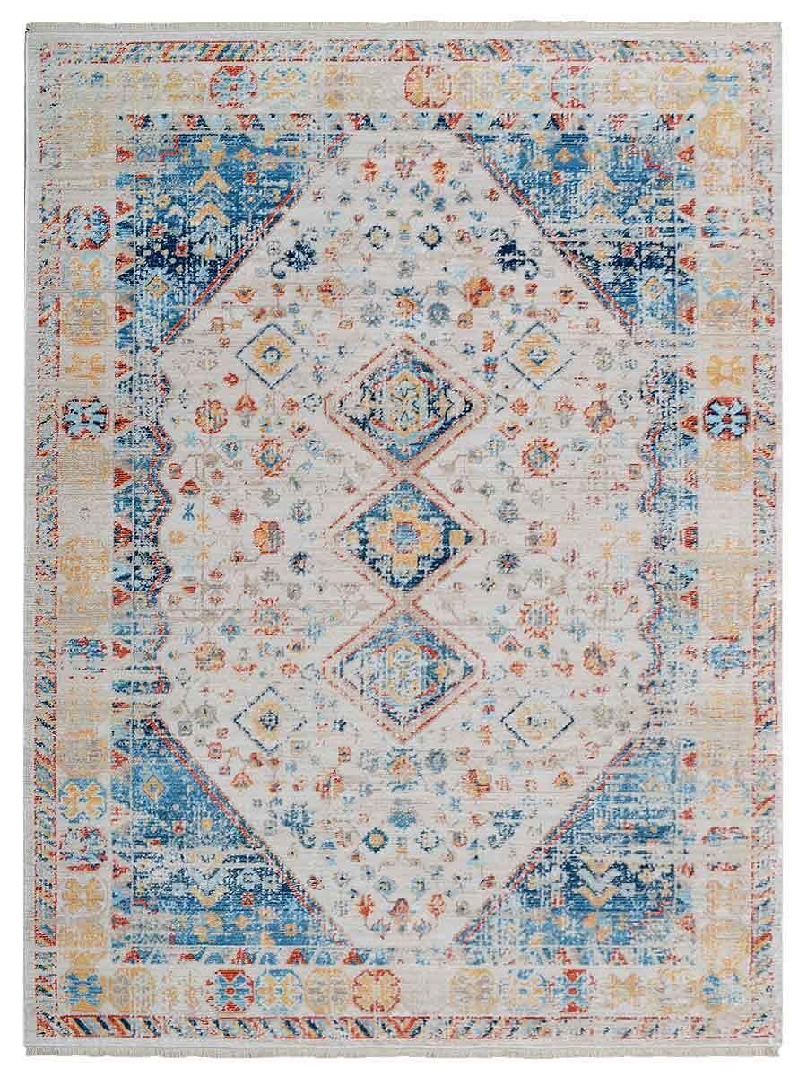 Hartshorn Crossweave Blue/Beige Area Rug Rug Size: Rectangle 4'8