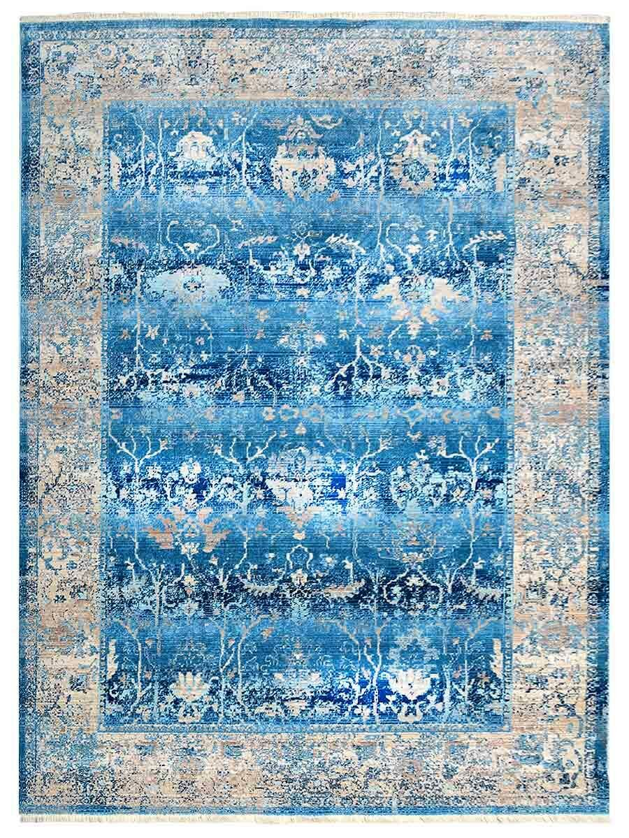 Hartshorn Crossweave Blue/Beige Area Rug Rug Size: Rectangle 6' x 9'