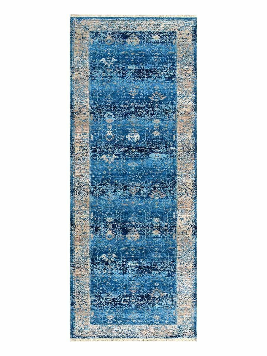 Hartshorn Crossweave Blue/Beige Area Rug Rug Size: Runner 2'6