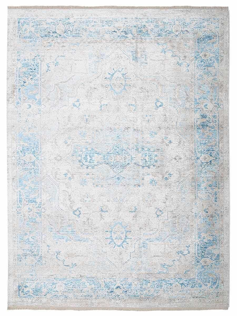 Hartshorn Gray/Blue Area Rug Rug Size: Rectangle 4' x 5'11