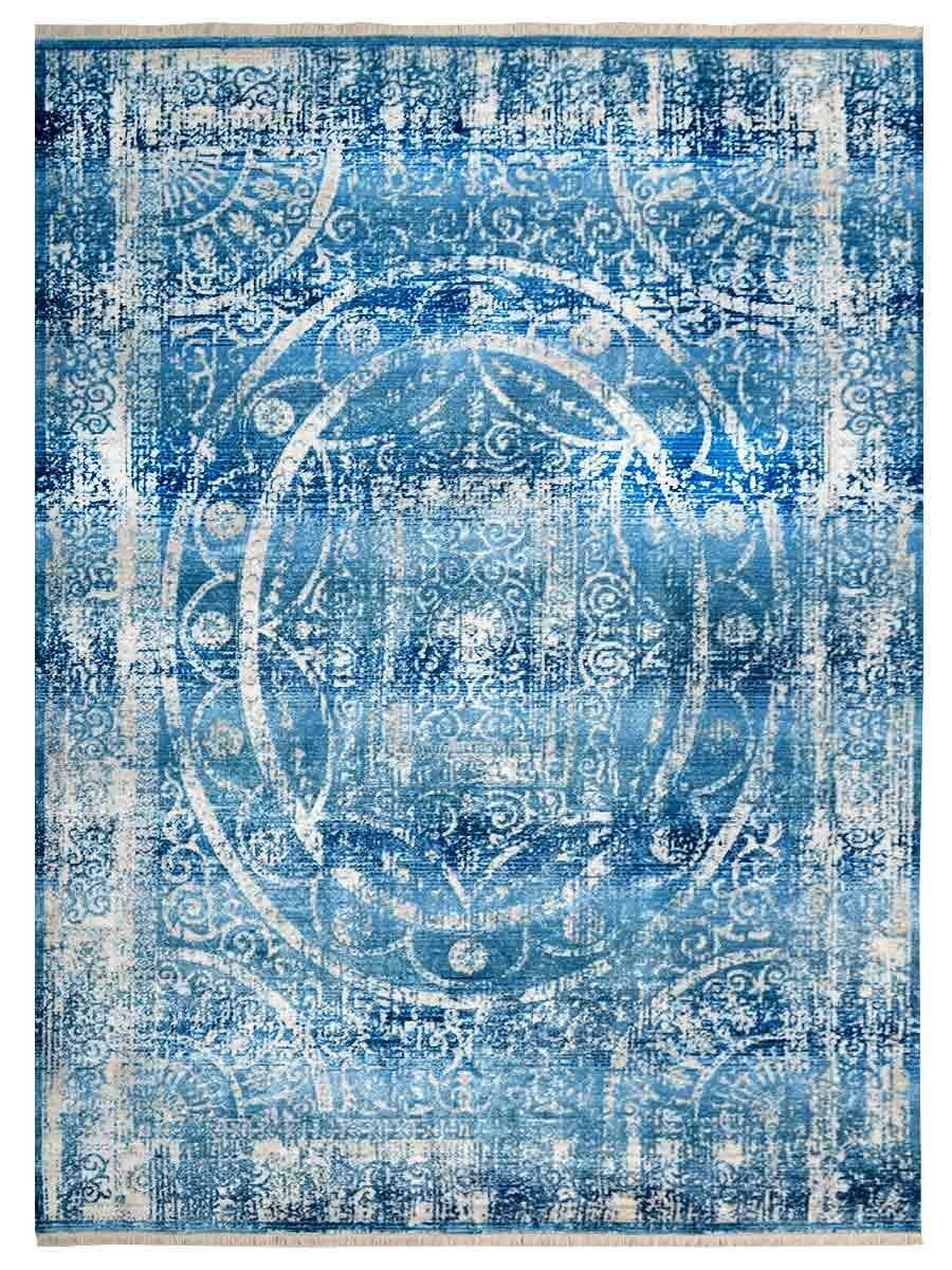 Hartshorn Blue/Cream Area Rug Rug Size: Rectangle 9' x 12'