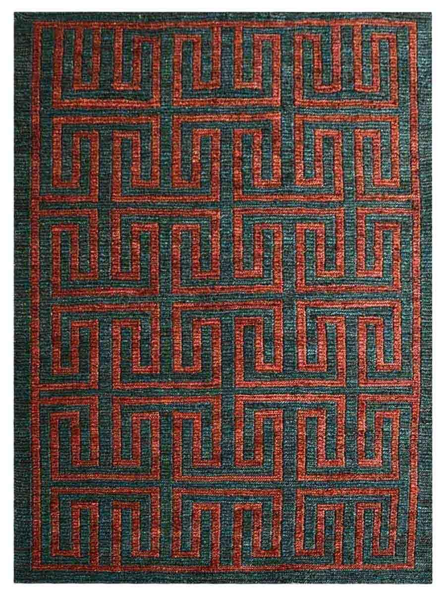 Rackers Hand-Knotted Gray/Red Indoor/Outdoor Area Rug Rug Size: Rectangle 3' x 5'