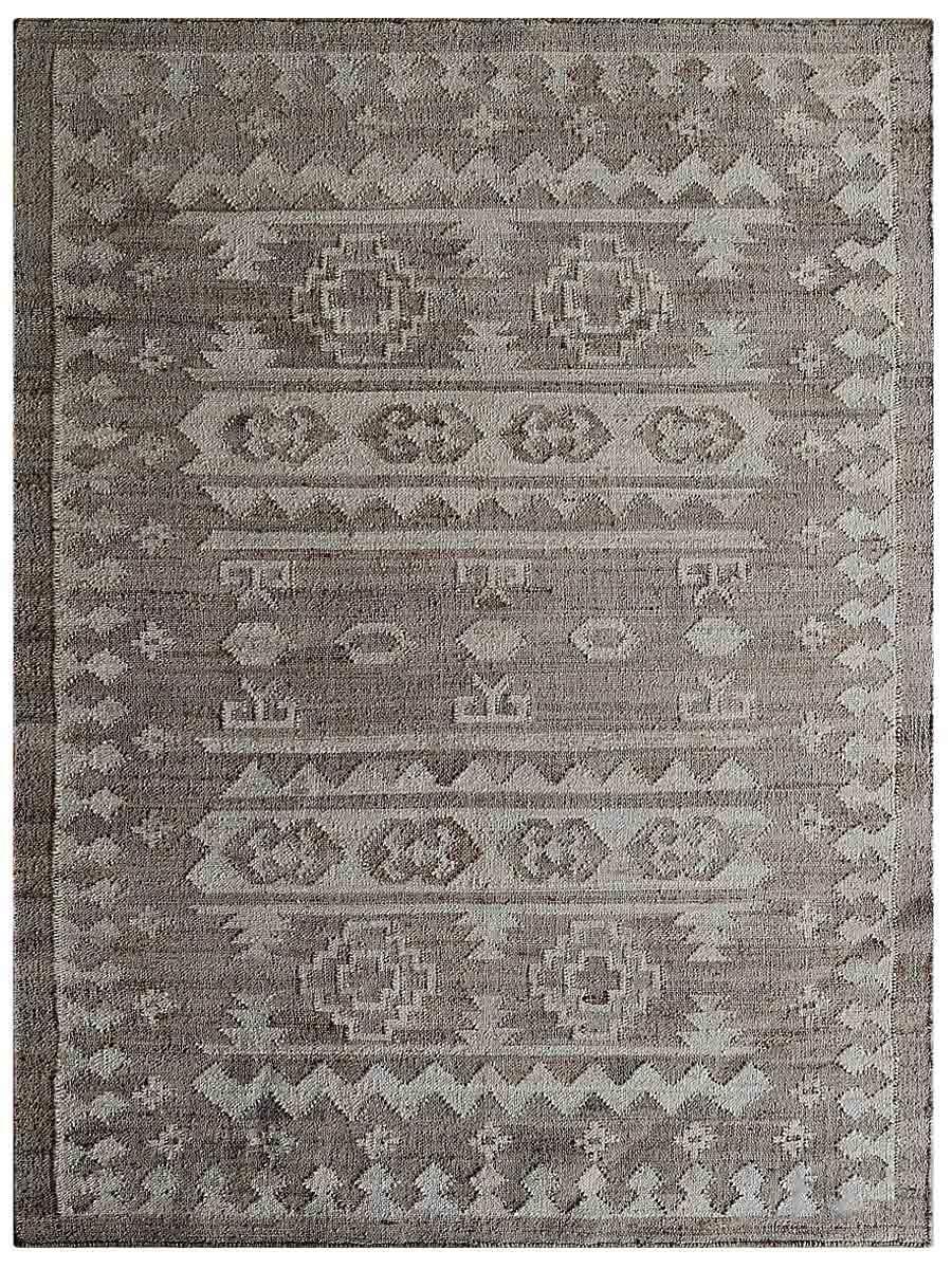 Torbert Handmade Kilim Gray/Beige Indoor/Outdoor Use Area Rug Rug Size: Rectangle 8' x 10'