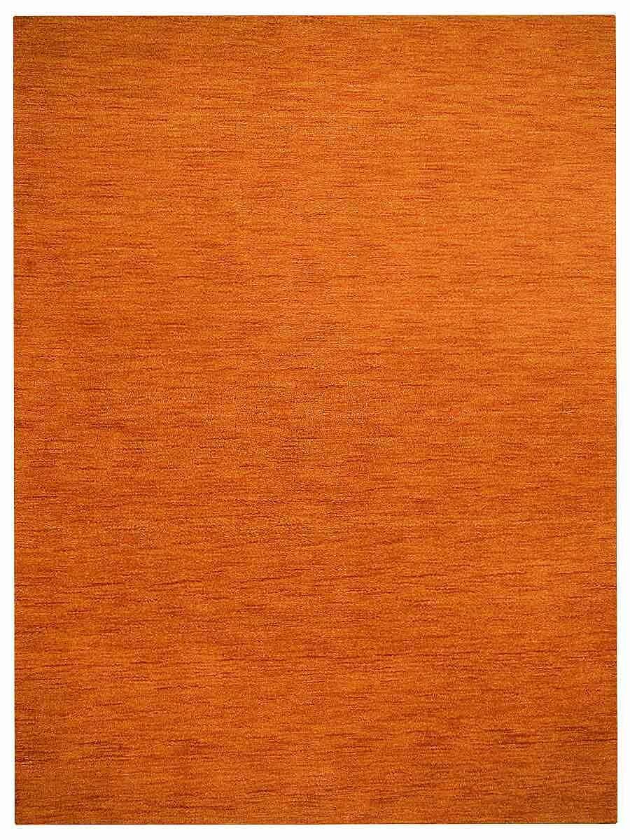 Housel Hand-Knotted Wool Orange Area Rug Rug Size: Rectangle 4'6