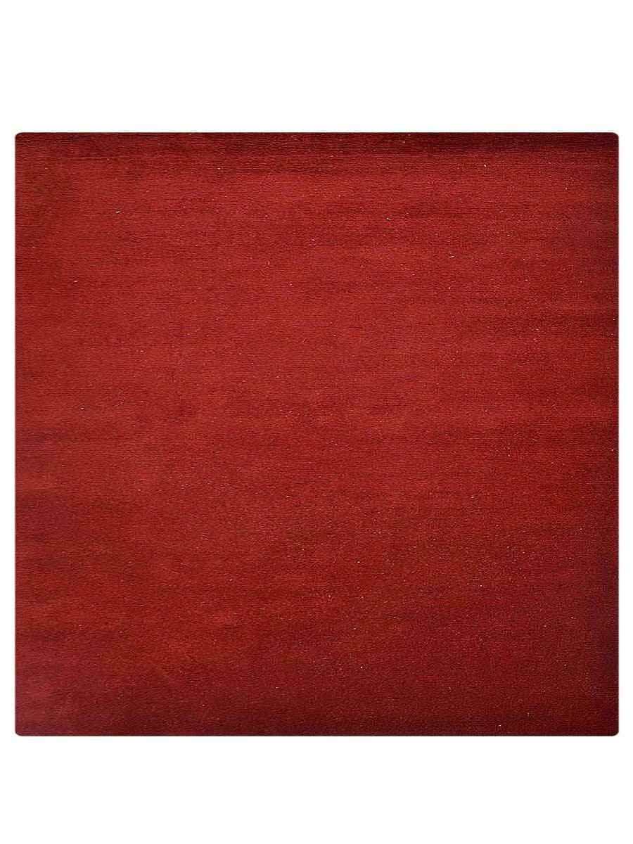 Delano Solid Hand-Woven Wool Red Area Rug Rug Size: Square 8'