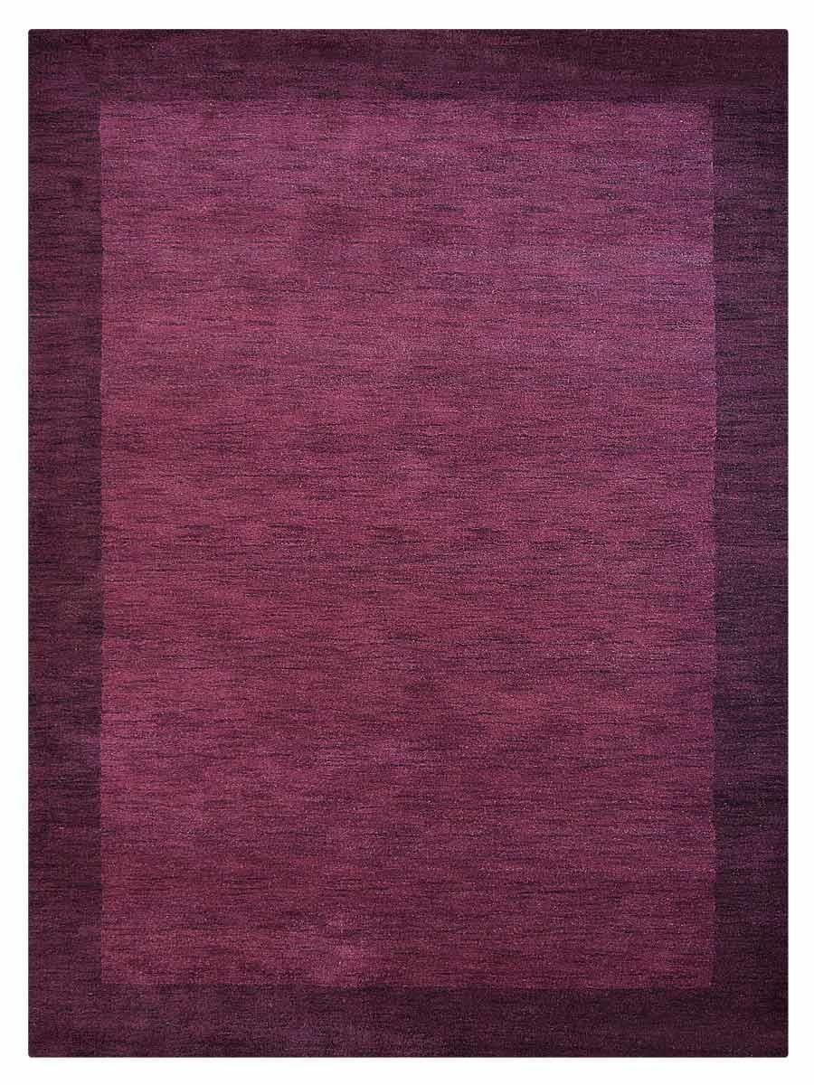 Vilmarie Hand-Woven Wool Purple Area Rug Rug Size: Rectangle 6' x 9'