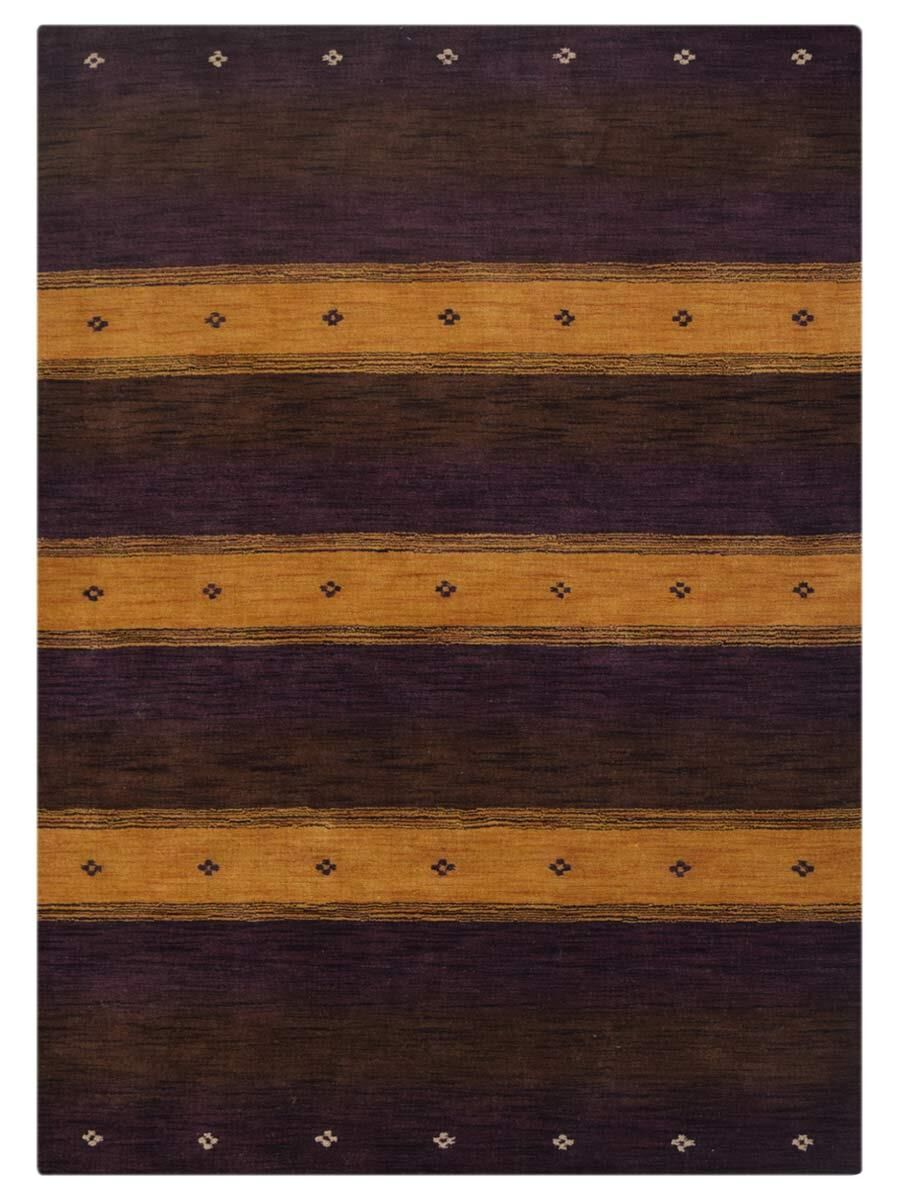 St Catherine Hand-Knotted Wool Purple/Gold Area Rug