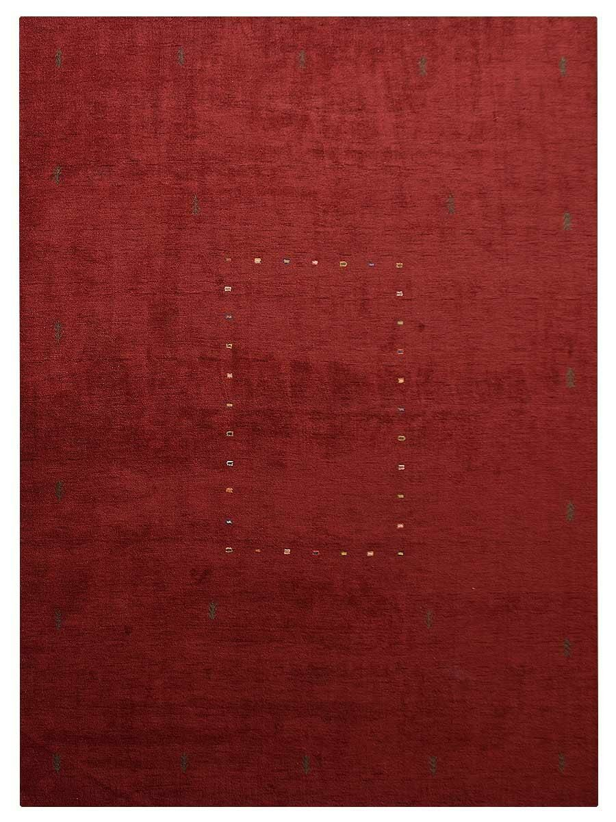 Amit Hand-Knotted Wool Red Area Rug