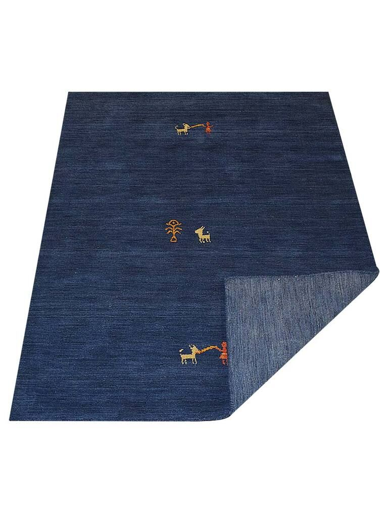 St Catherine Hand-Knotted Wool Navy Area Rug
