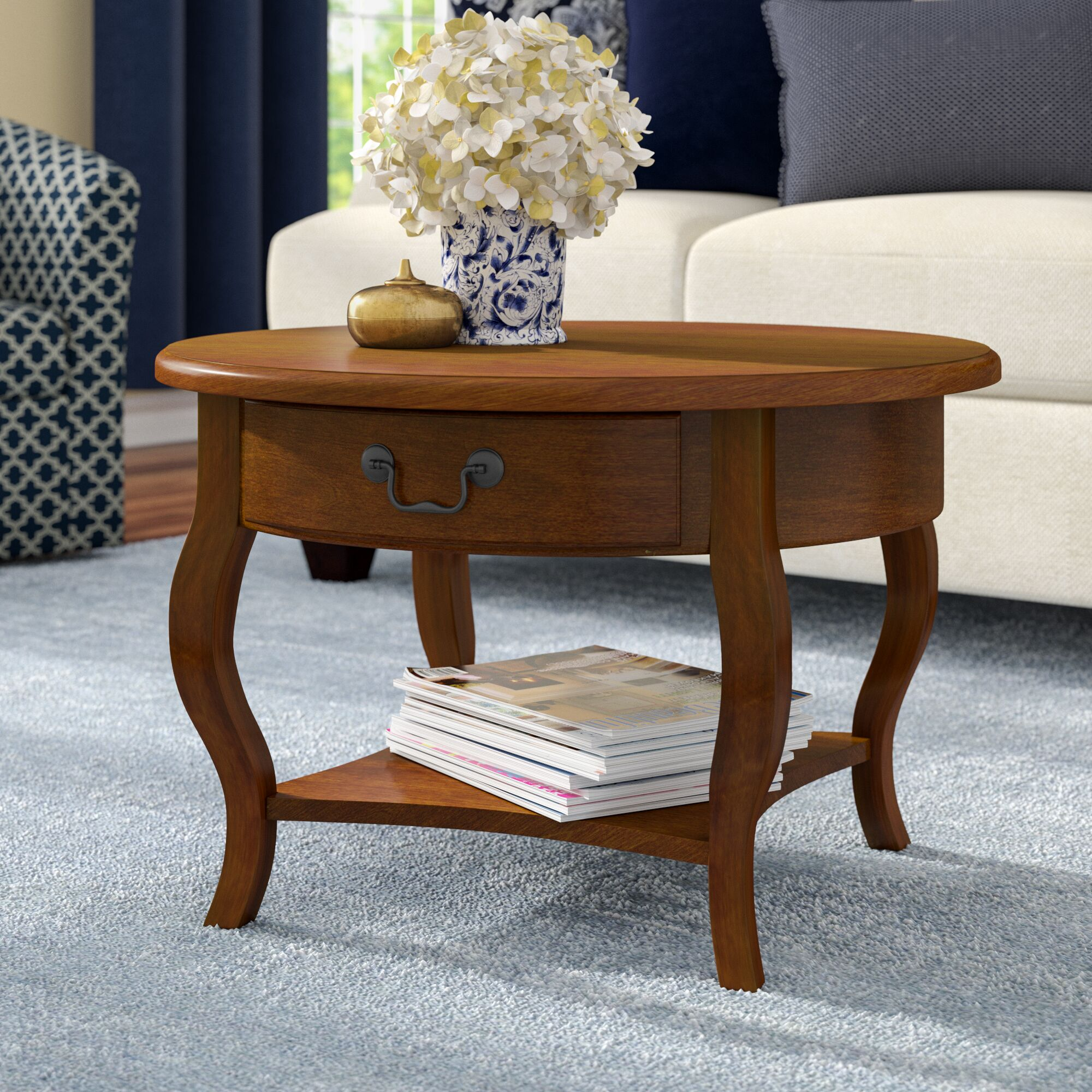 Apple Valley Coffee Table Color: Brown Cherry
