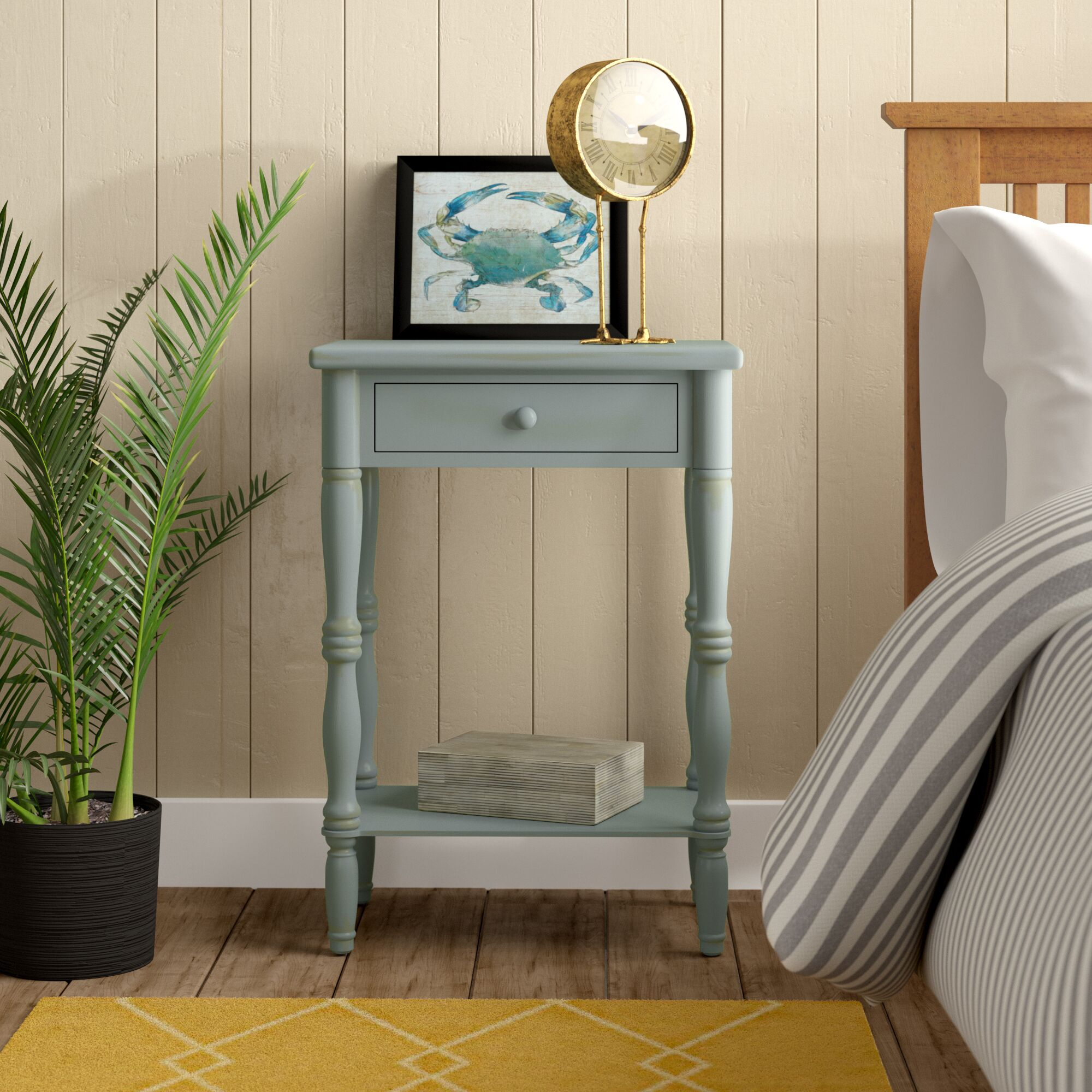 Jaliyah 1 Drawer Nightstand Color: Baby Blue