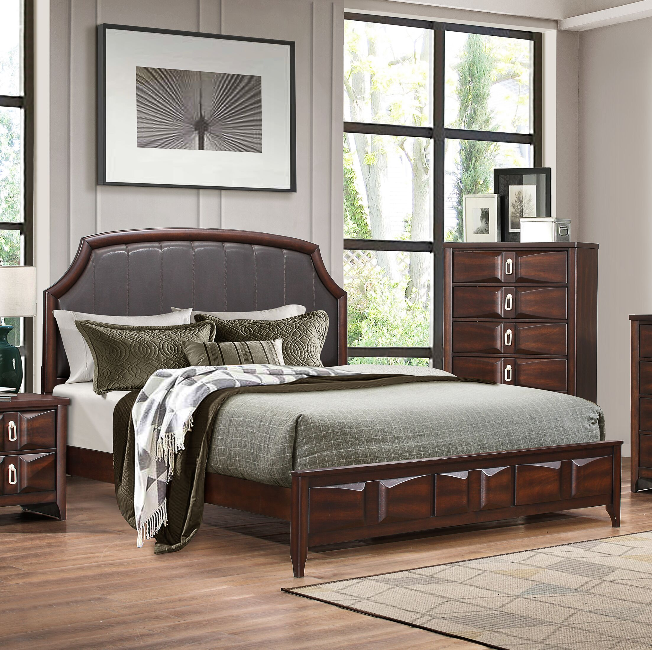 Redbrook Upholstered Panel Bed Size: King