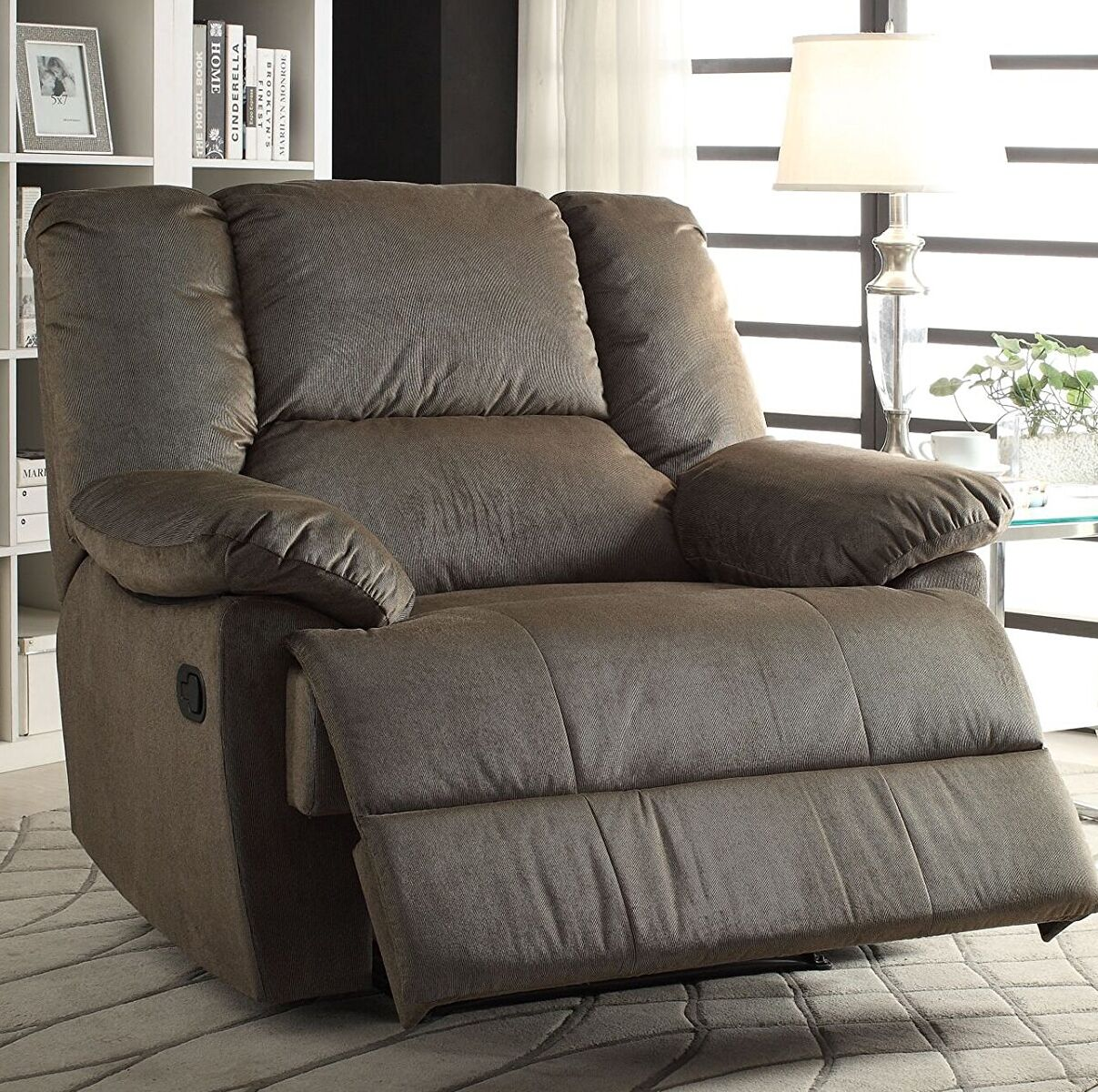 Raul Manual Glider Recliner Upholstery: Sage