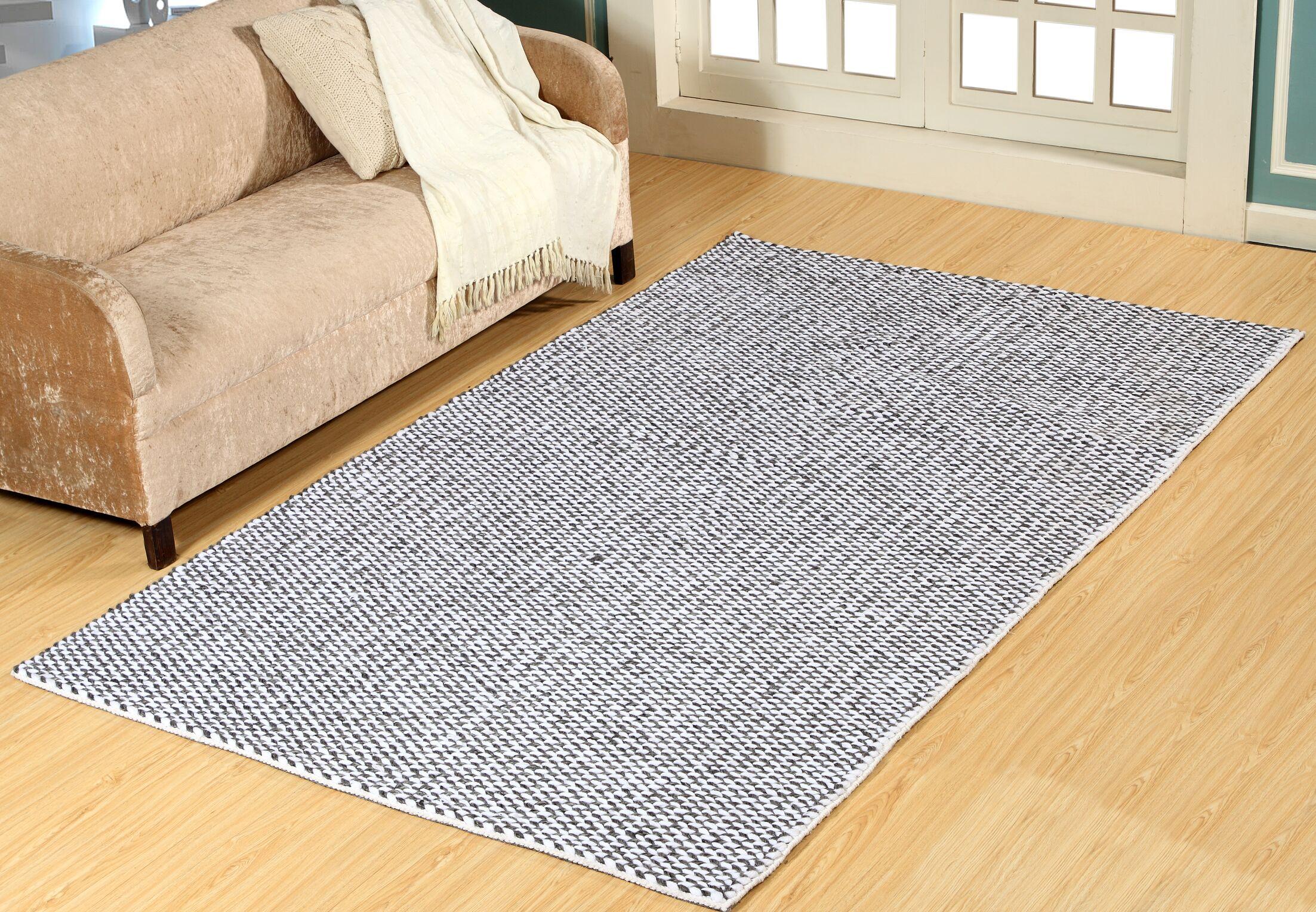 Elbridge Hand-Woven Charcoal Area Rug Rug Size: Rectangle 2' x 4'