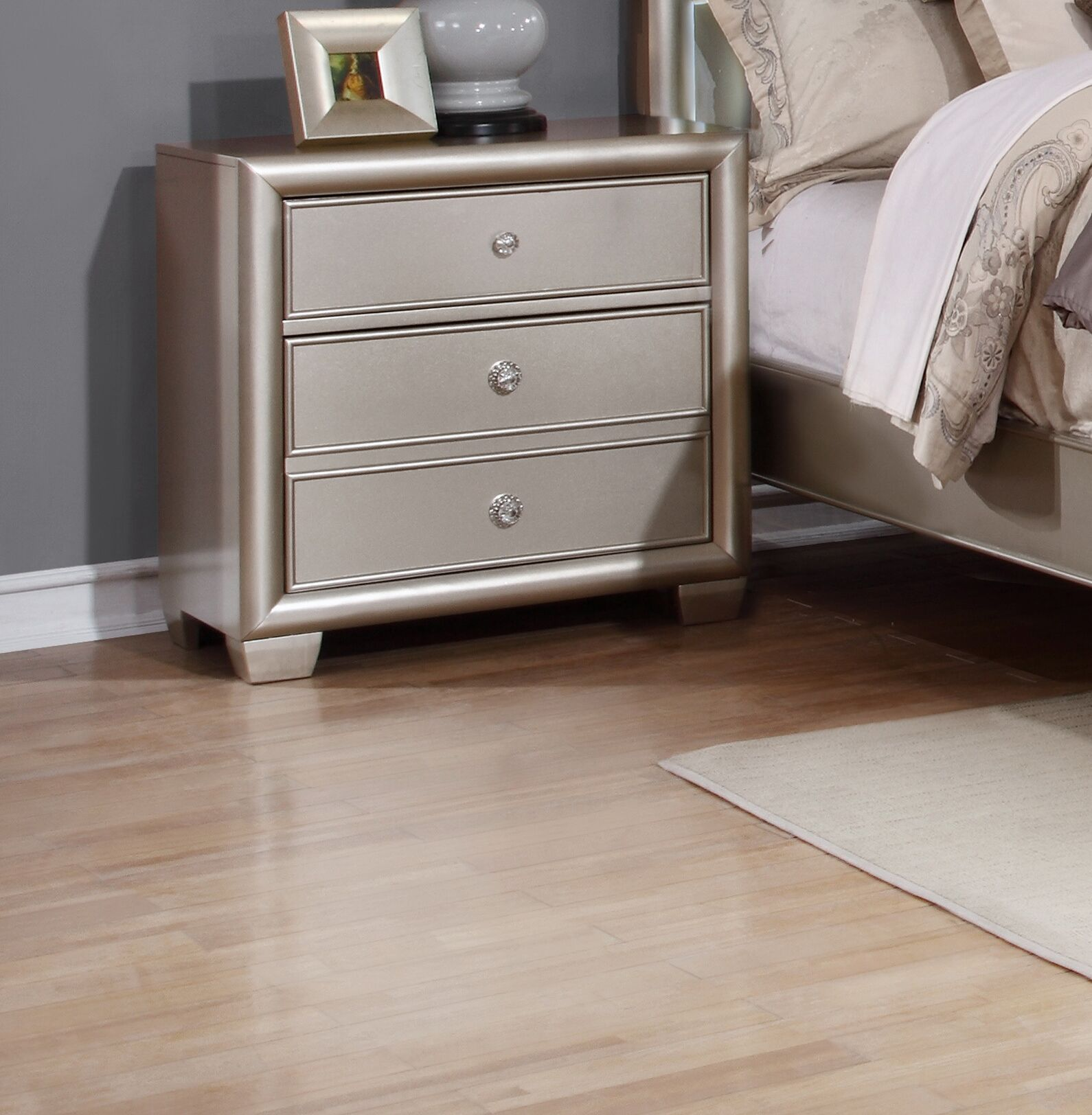Chumley 3 Drawer Nightstand