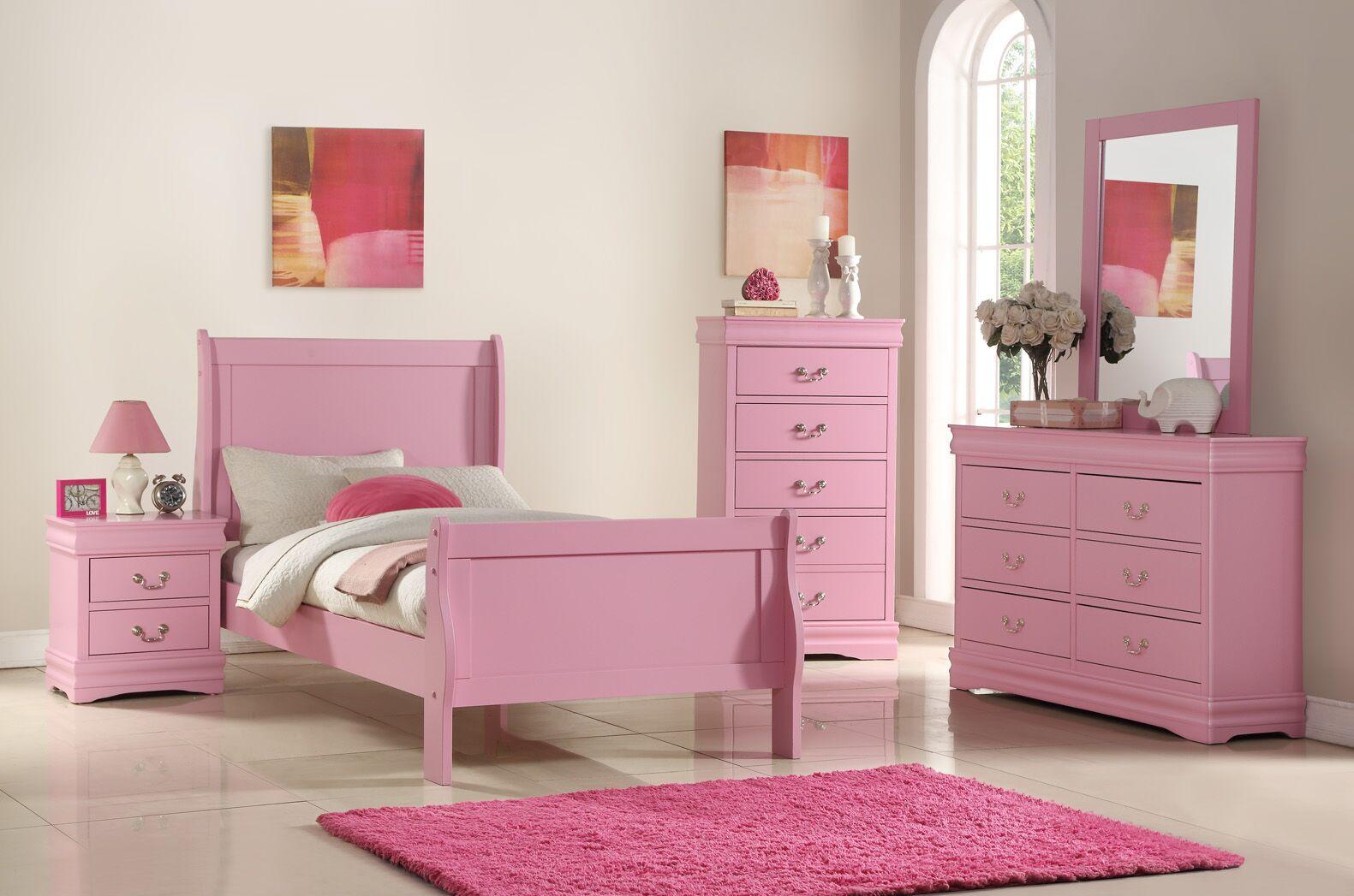 Hallatrow 2 Drawer Nightstand Color: Pink