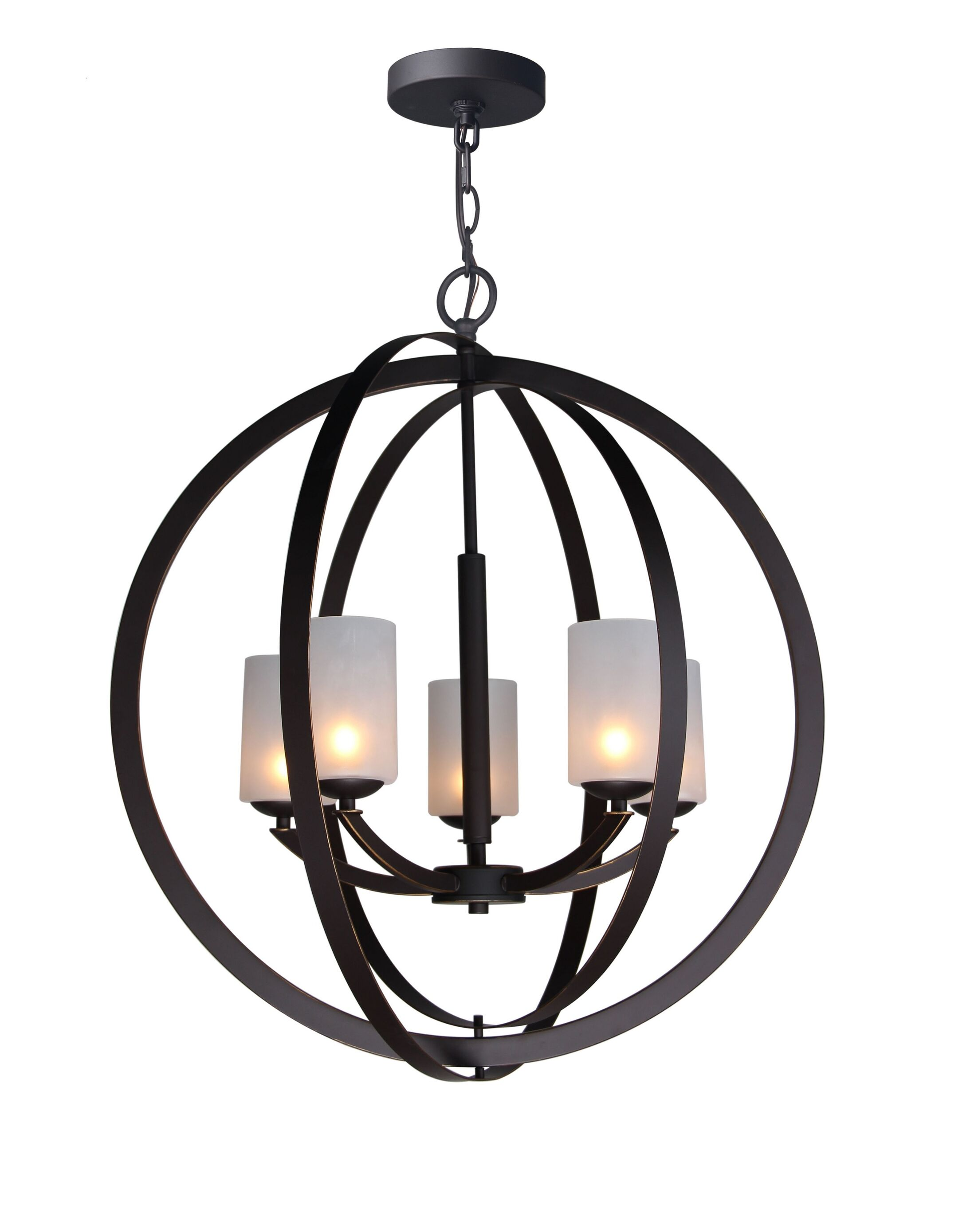 Heavner 5-Light Globe Pendant Finish: Metallic Bronze