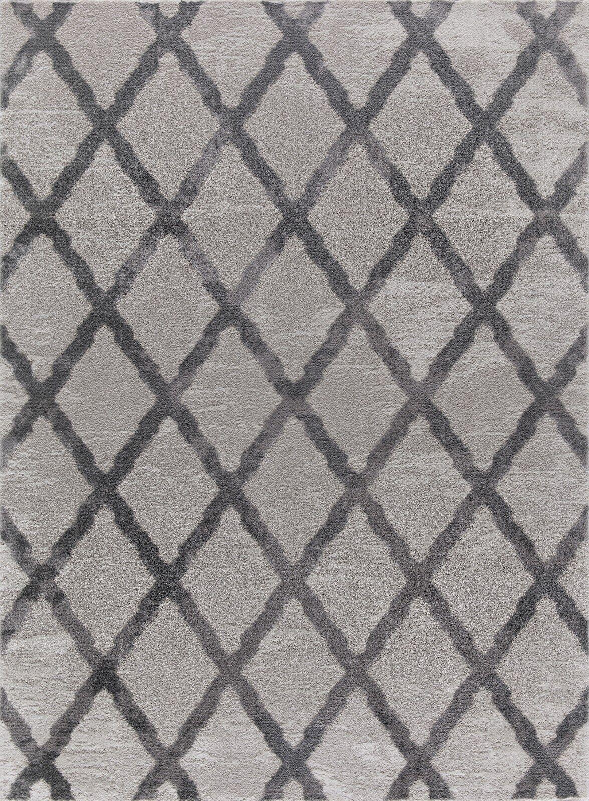 Cazares Gray Area Rug Rug Size: Rectangle 7'8