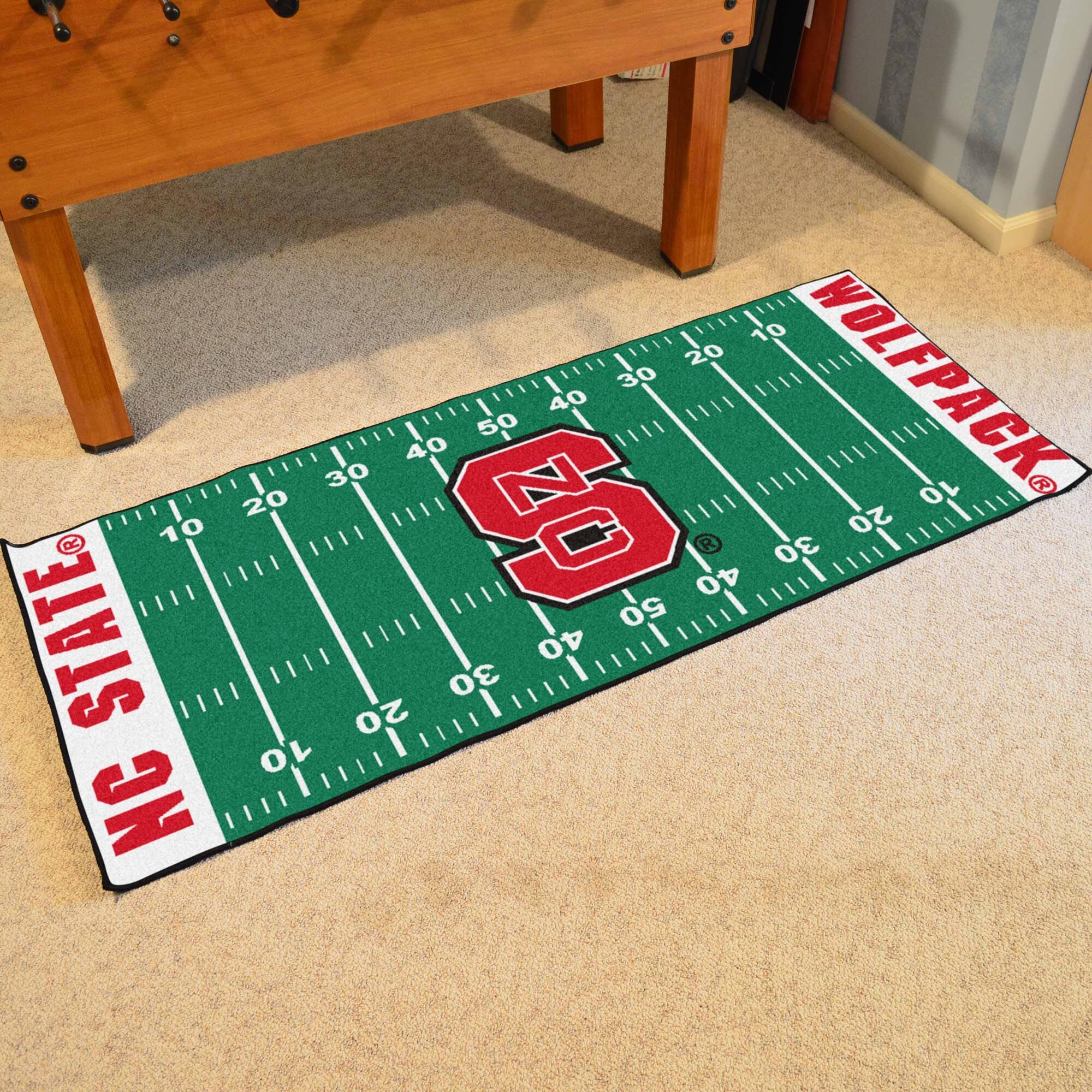 Collegiate US Military Academy Area Rug NCAA Team: North Carolina State University_1