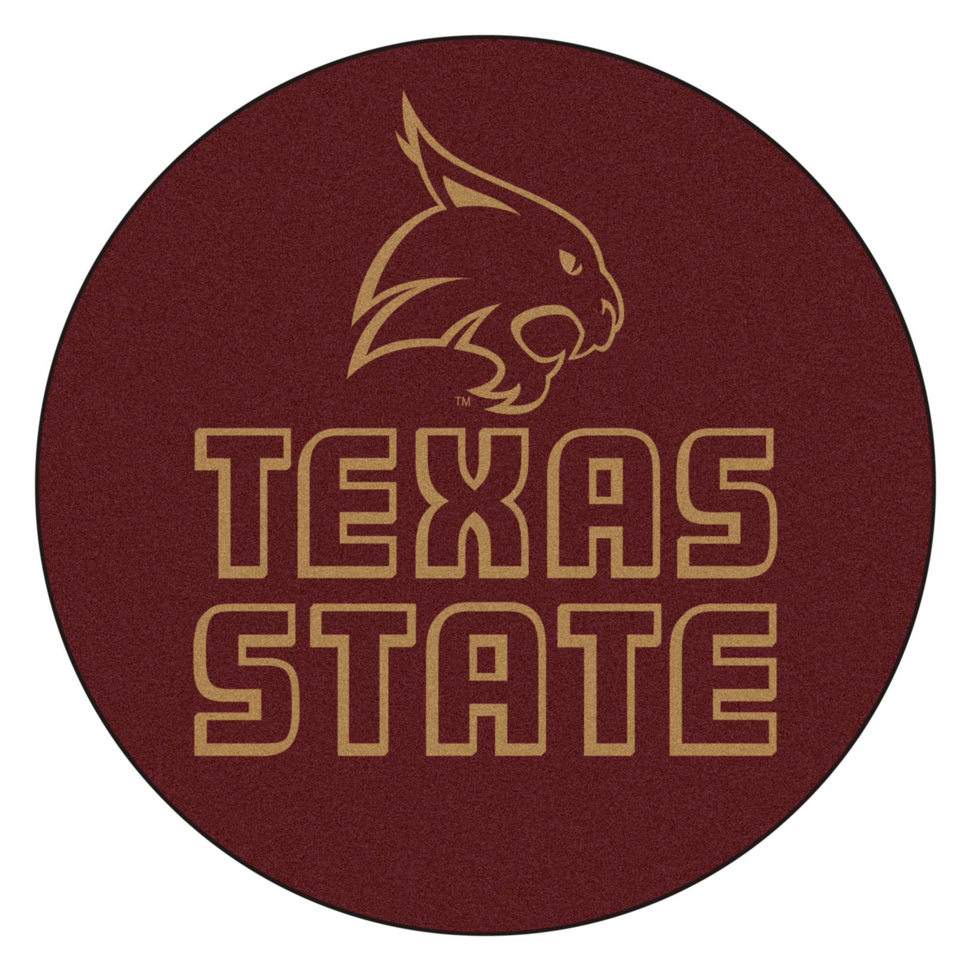 Texas State University Doormat Mat Size: Round 2'5