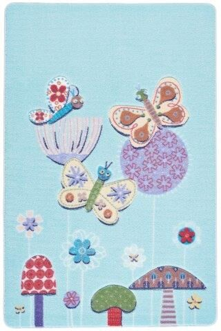 Sierra Butterfly Effect Blue Area Rug Rug Size: Rectangle 3'3