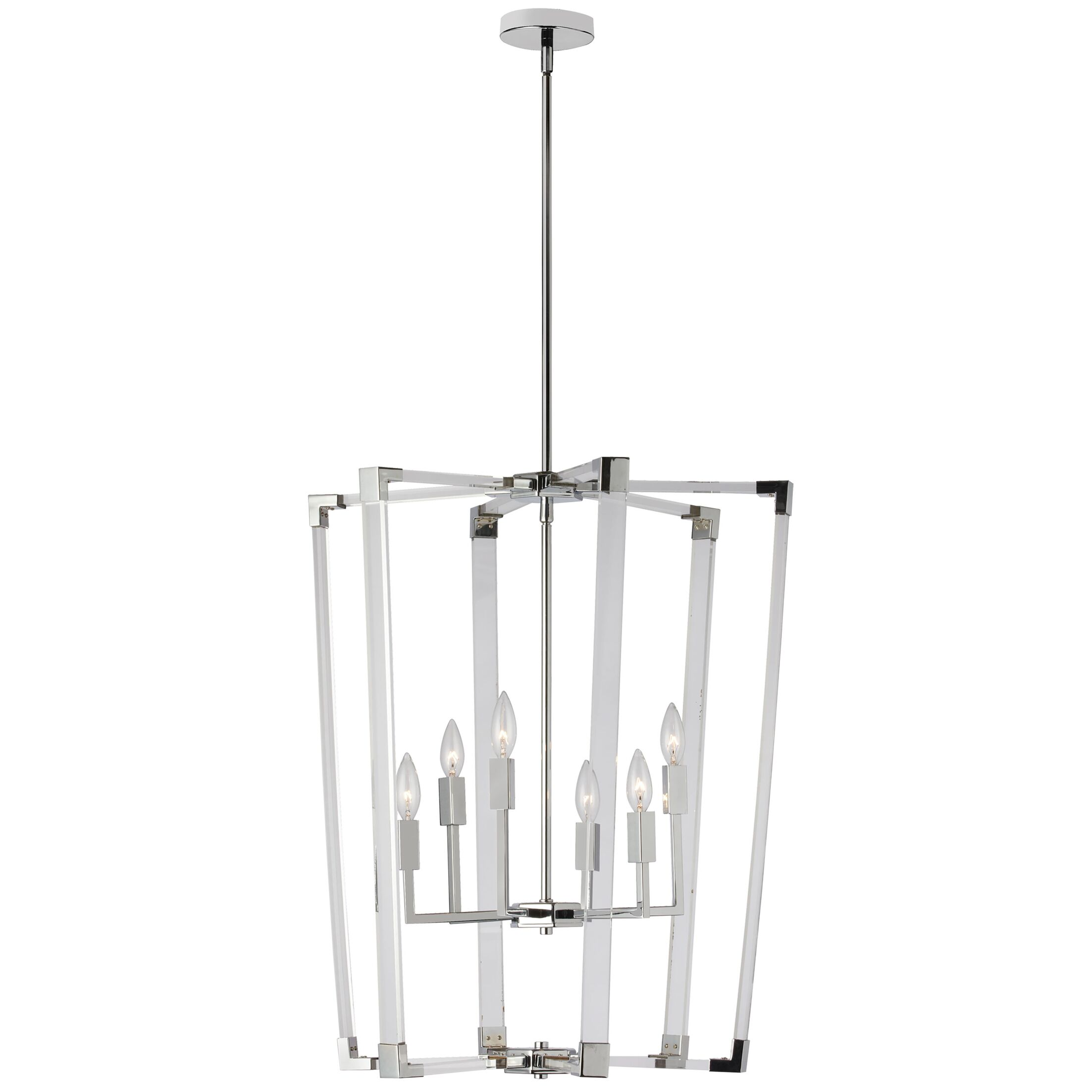 Caenada 6-Light Lantern Chandelier Finish: Chrome