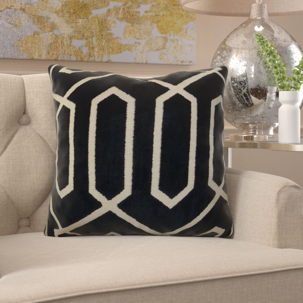 Friar Designer Couch Pillow Fill Material: 95/5 Feather/Down, Size: 22