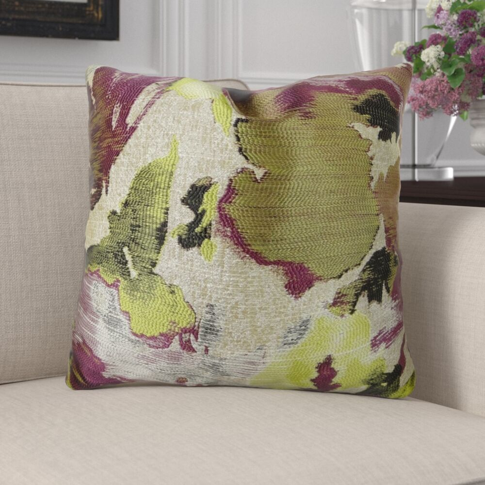 Eells Fuchsia Citrine Greige Luxur Pillow Fill Material: 95/5 Feather/Down, Size: 12