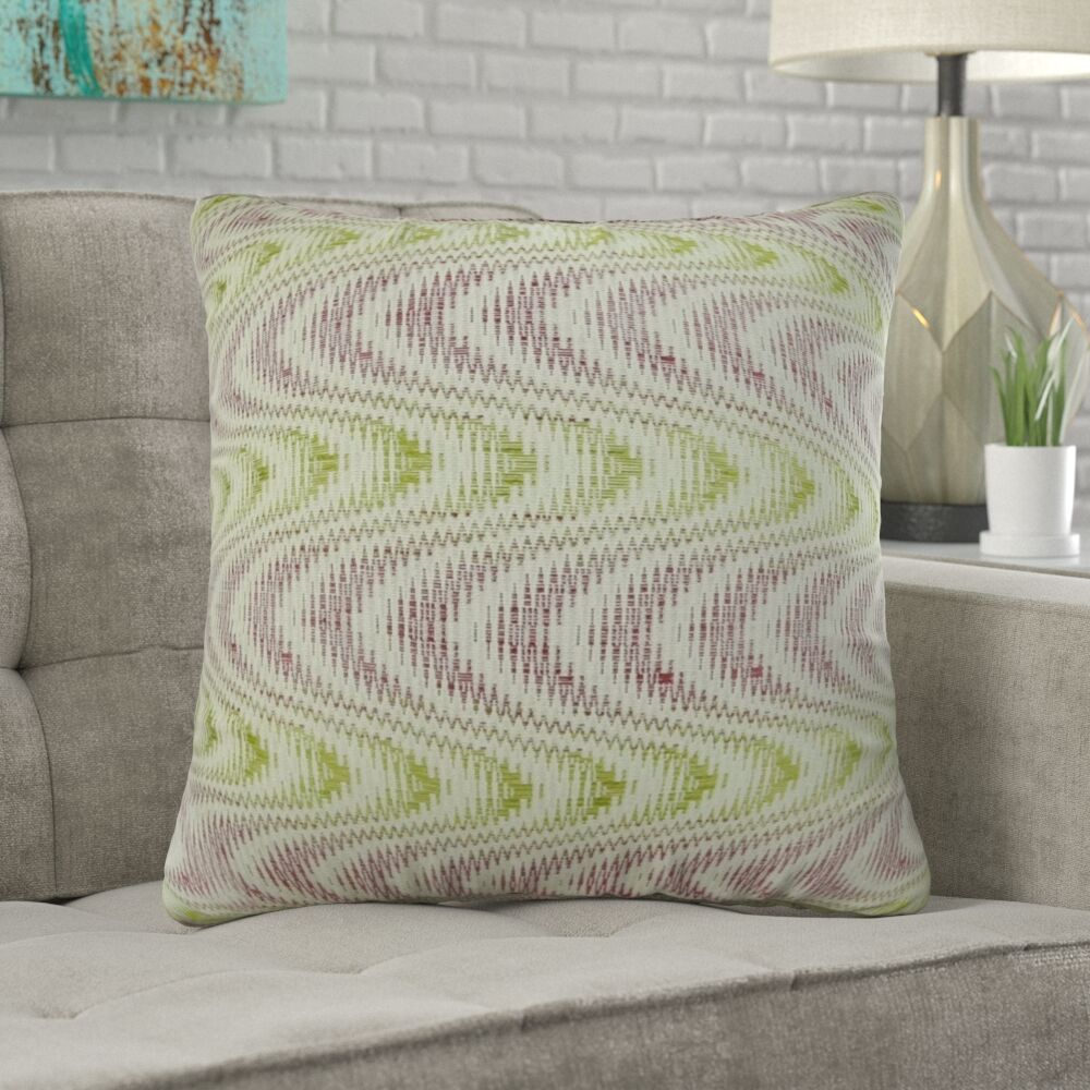 Mcmartin Wavy Swirl Pillow Fill Material: 95/5 Feather/Down, Size: 18