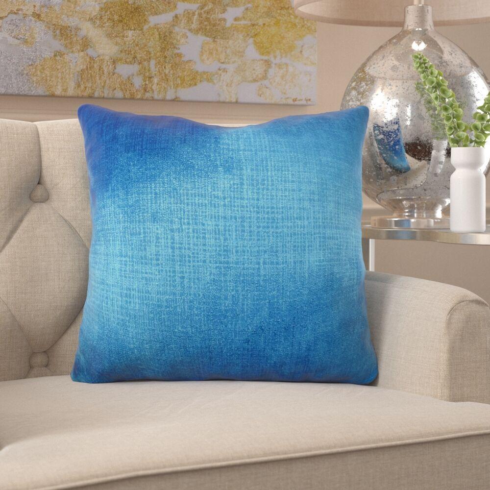 Fray Metallic Azure Designer Pillow Fill Material: H-allrgnc Polyfill, Size: 22