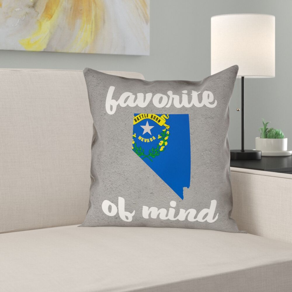 Fawcett Nevada State of Mind Pillow Size: 20