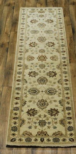 One-of-a-Kind Bovill Oriental Hand-Knotted Wool Beige/Ivory Area Rug