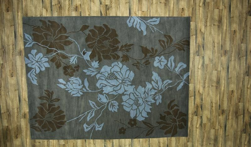 One-of-a-Kind Kathy Oriental Hand-Knotted Wool Gray/Charcoal Area Rug