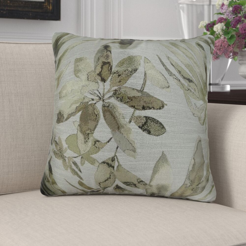 Efird Floral Designer Luxury Pillow Fill Material: Cover Only - No Insert, Size: 18