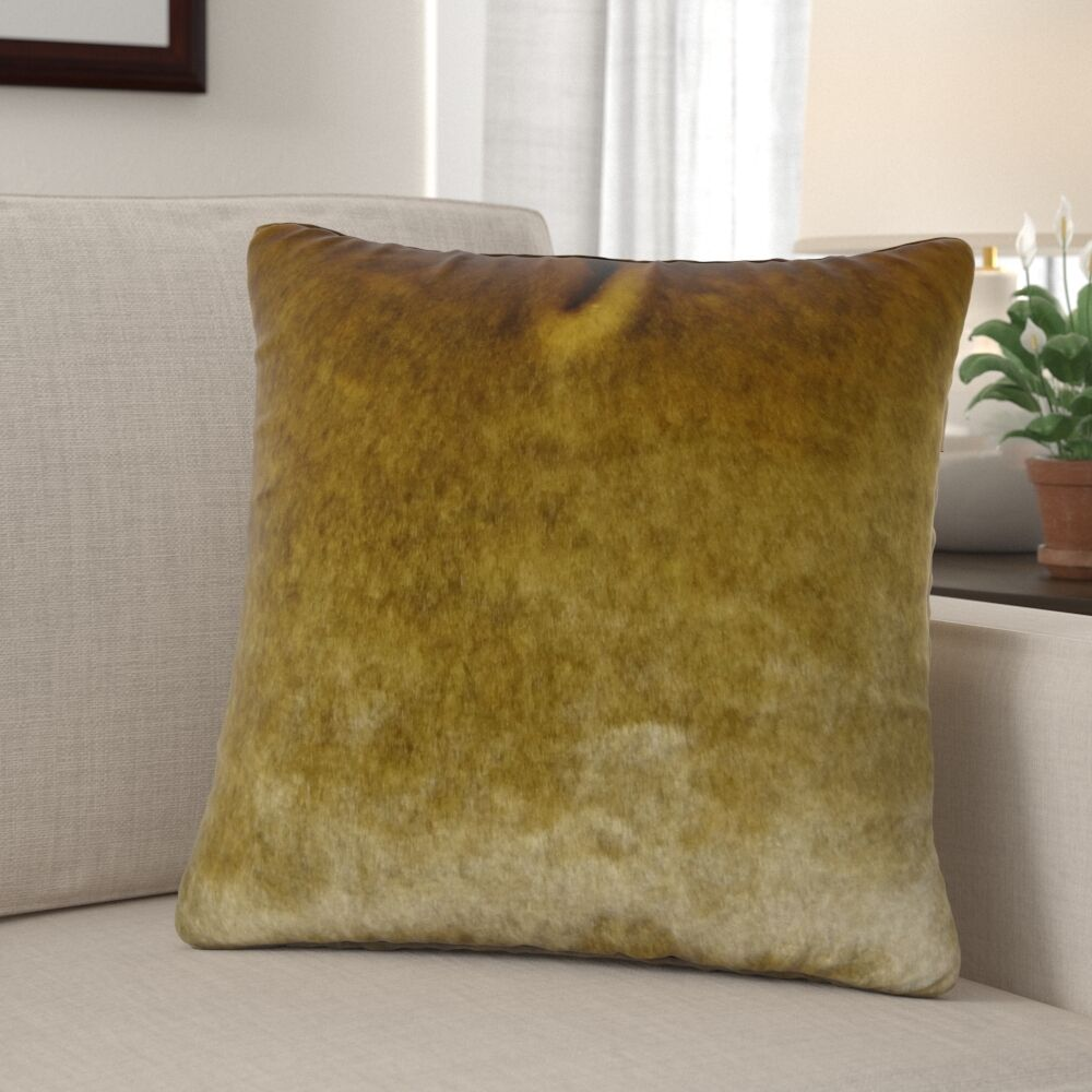 Waggoner Luxury Sable Mink Faux Fur Pillow Fill Material: H-allrgnc Polyfill, Size: 20