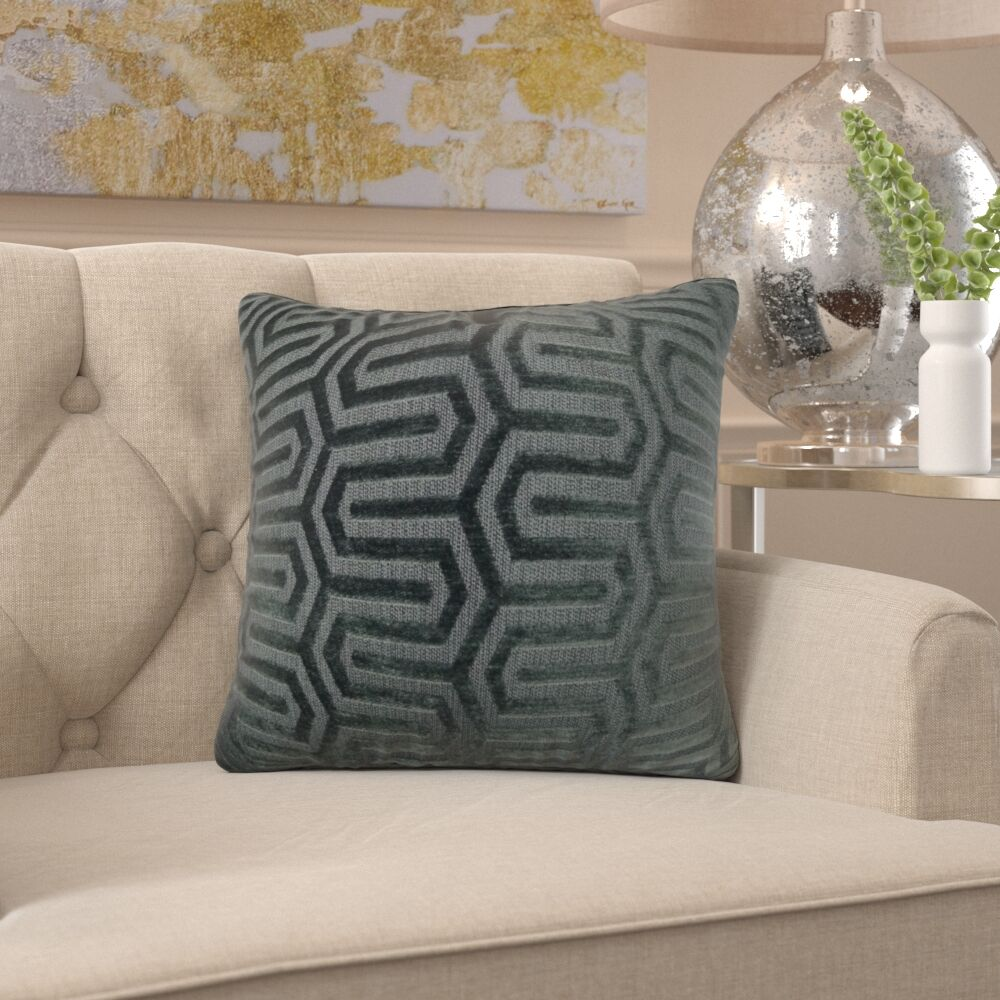 Frates Maze Pillow Size: 16