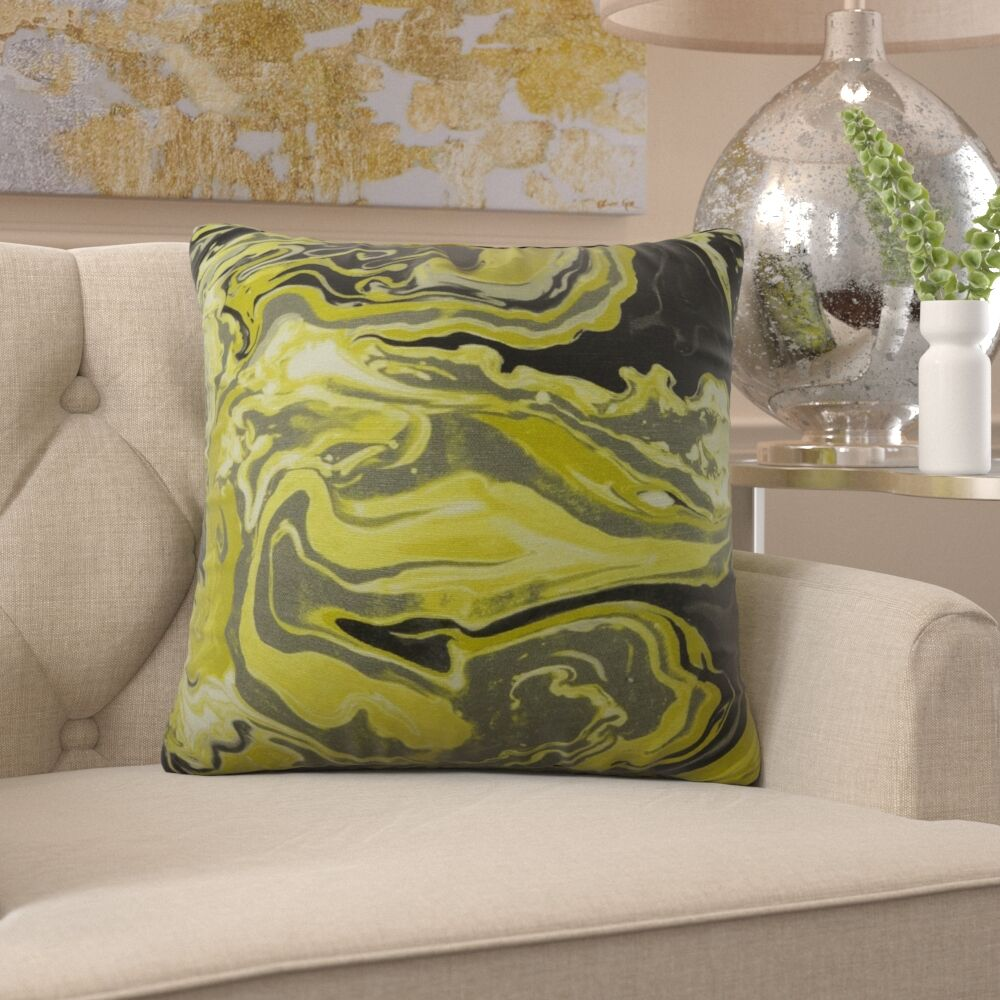 Frary Marble Pattern Pillow Fill Material: H-allrgnc Polyfill, Size: 24