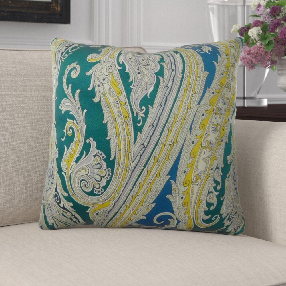 Edmiston Paisley Luxury Pillow Size: 26